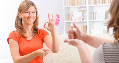 como aprender lengua de señas
