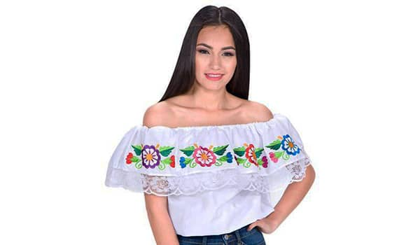 como hacer blusa mexicana