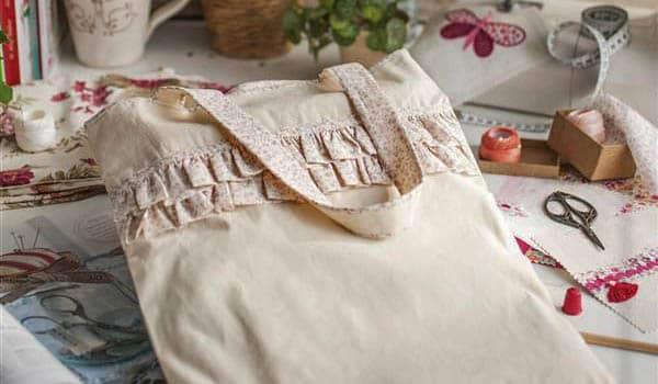 como hacer bolsos de tela paso a paso
